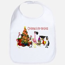 CHRISTMAS IS FOR THE BIRDS Bib