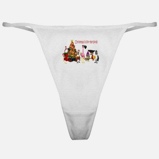 CHRISTMAS IS FOR THE BIRDS Classic Thong