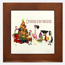 CHRISTMAS IS FOR THE BIRDS Framed Tile