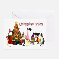 CHRISTMAS IS FOR THE BIRDS Greeting Card