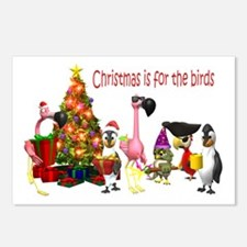 CHRISTMAS IS FOR THE BIRDS Postcards (Package of 8