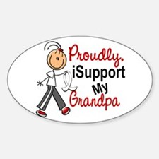 I Support My Grandpa 1 (SFT LC) Oval Decal