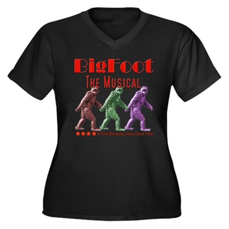 Bigfoot The Musical Women's Plus Size V-Neck Dark