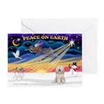 XmasSunrise/Tibet Ter Greeting Card