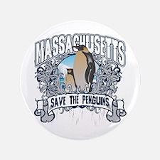 "Save the Penguins Massachusetts 3.5"" Button"