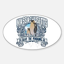 Save the Penguins Massachusetts Oval Decal