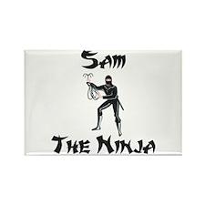 Sam - The Ninja Rectangle Magnet