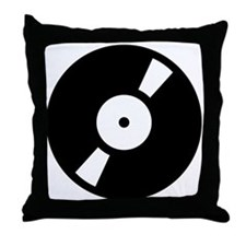 Retro Classic Vinyl Record Throw Pillow