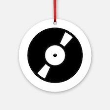 Retro Classic Vinyl Record Ornament (Round)