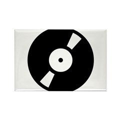 Retro Classic Vinyl Record Rectangle Magnet (10 pa