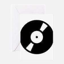 Retro Classic Vinyl Record Greeting Card