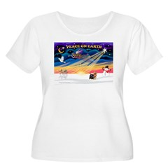 XmasSunrise/Yorkie #9 T-Shirt