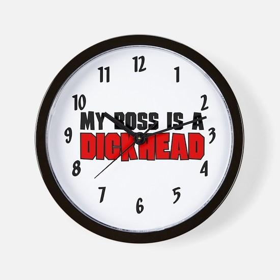 Boss is a Dickhead Wall Clock