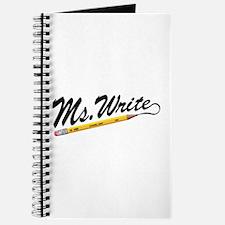 'Ms. Write' Author Journal