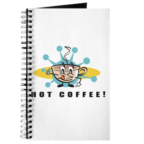 Retro Hot Coffee Ad Journal