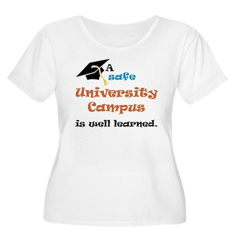 A safe University Campus Women's Plus Size Scoop N