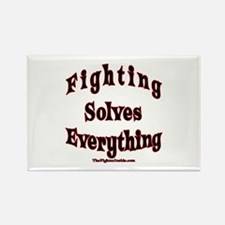 Fighting Solves Everything Rectangle Magnet