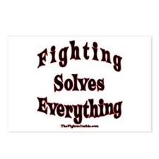 Fighting Solves Everything Postcards (Package of 8