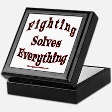 Fighting Solves Everything Keepsake Box