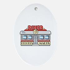 Retro Fast Food Diner Design Oval Ornament