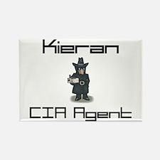 Kieran - CIA Agent Rectangle Magnet
