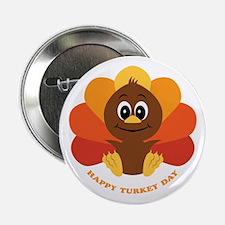 "Happy Turkey Day 2.25"" Button (10 pack)"