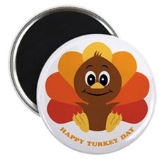 "Happy Turkey Day 2.25"" Magnet (100 pack)"