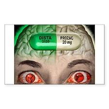 Prozac Rectangle Decal
