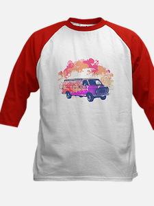 Retro Hippie Van Grunge Style Kids Baseball Jersey
