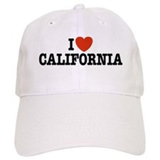 I Love california Baseball Cap
