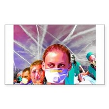 ChemTrail poisoning Rectangle Decal