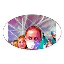 ChemTrail poisoning Oval Decal