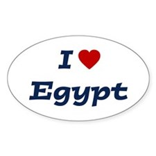 I HEART EGYPT Oval Decal