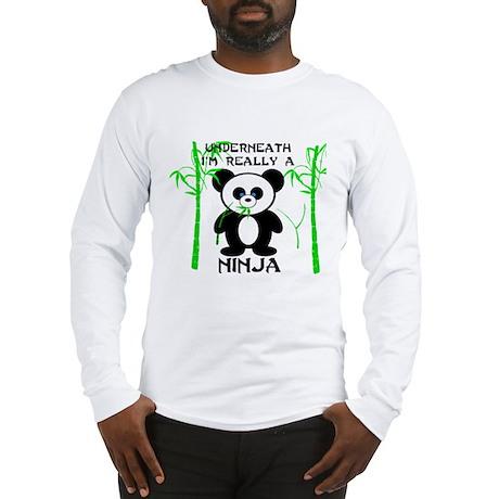 Ninja Panda Long Sleeve T-Shirt