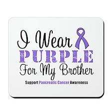 I Wear Purple (Brother) Mousepad