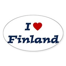I HEART FINLAND Oval Decal