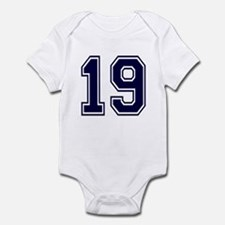 NUMBER 19 FRONT Infant Bodysuit
