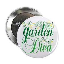 """Garden Diva 2.25"""" Button"""