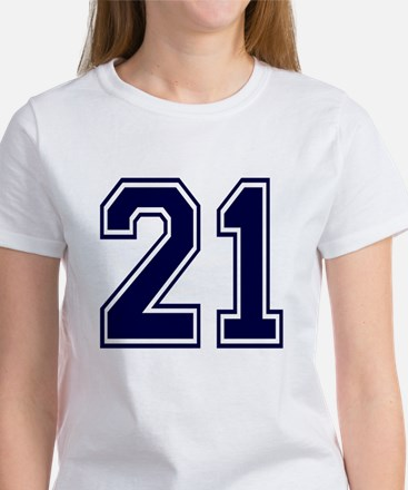 NUMBER 21 FRONT Women's T-Shirt
