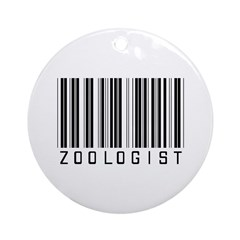 Zoologist Barcode Ornament (Round)
