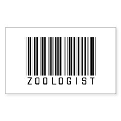 Zoologist Barcode Rectangle Decal