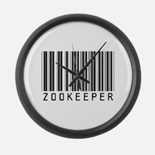 Zookeeper Barcode Large Wall Clock