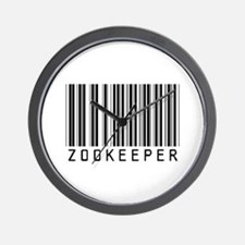 Zookeeper Barcode Wall Clock