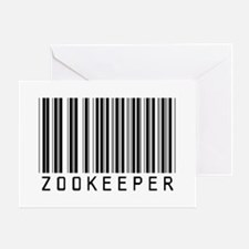 Zookeeper Barcode Greeting Card