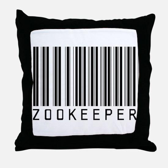 Zookeeper Barcode Throw Pillow