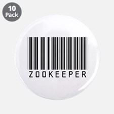 "Zookeeper Barcode 3.5"" Button (10 pack)"