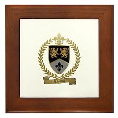 RIVAULT Family Crest Framed Tile