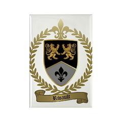 RIVAULT Family Crest Rectangle Magnet (100 pack)