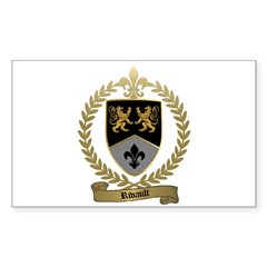 RIVAULT Family Crest Rectangle Decal