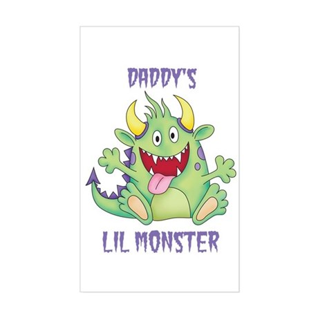 Daddy's Lil Monster Rectangle Sticker